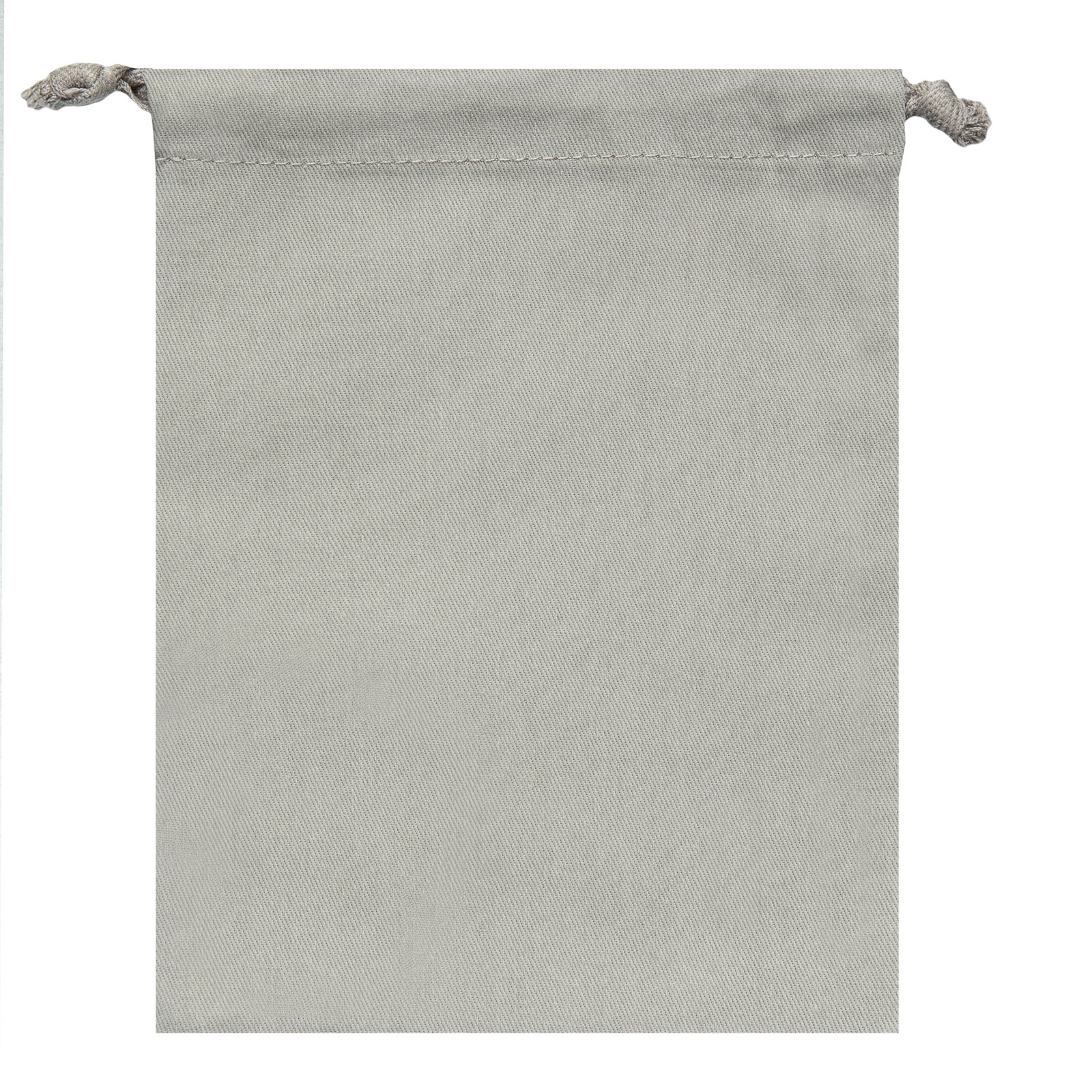 """Signature Napkins Face Covering Storage Pouch – 8"""" x 6"""" Drawstring Bag - 100% Cotton – 10 x Pack - Grey"""