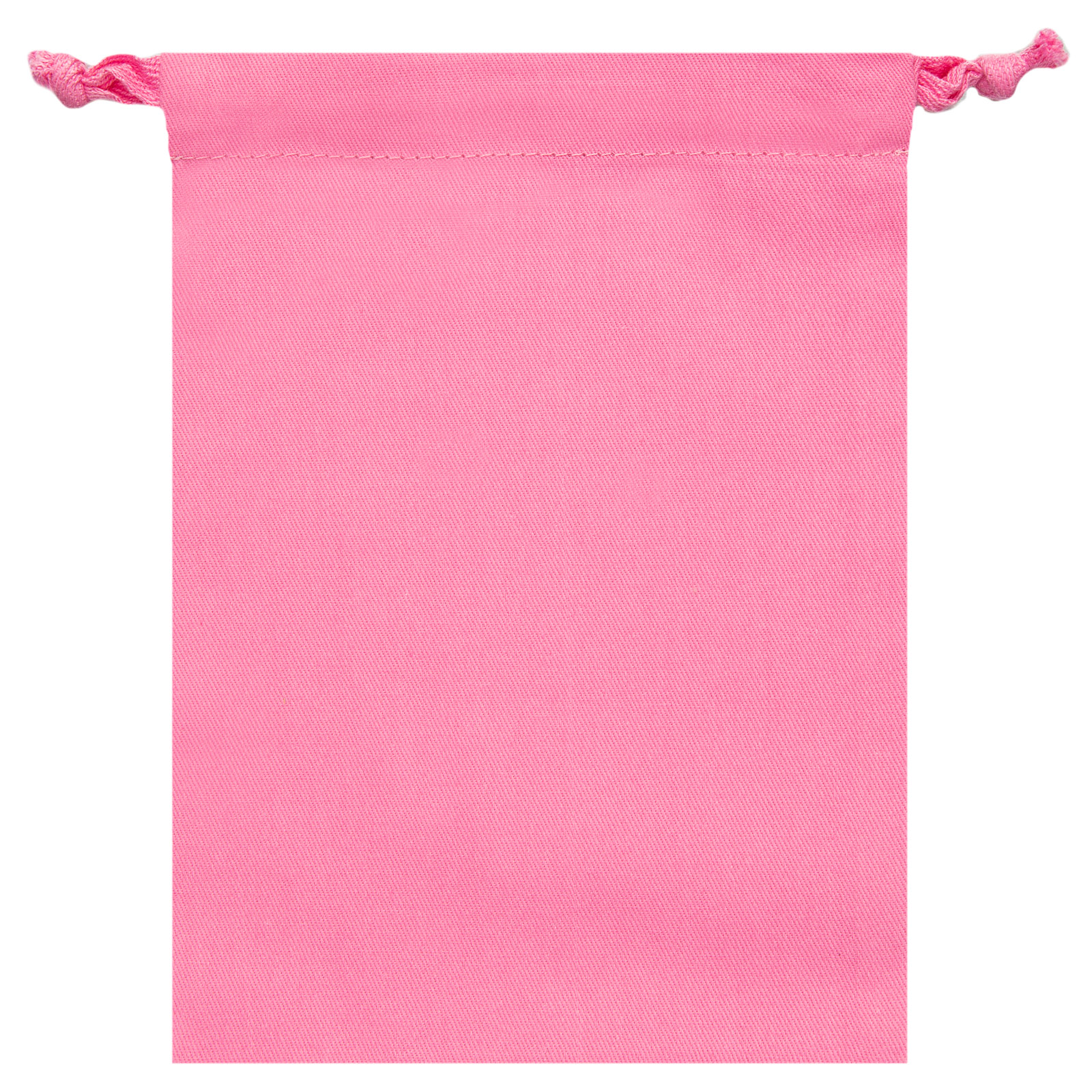 """Signature Napkins Face Covering Storage Pouch – 8"""" x 6"""" Drawstring Bag - 100% Cotton – 10 x Pack - Rose"""