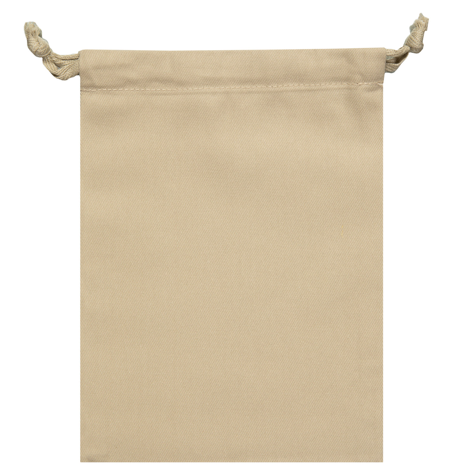 """Signature Napkins Face Covering Storage Pouch – 8"""" x 6"""" Drawstring Bag - 100% Cotton – 10 x Pack - Sand"""