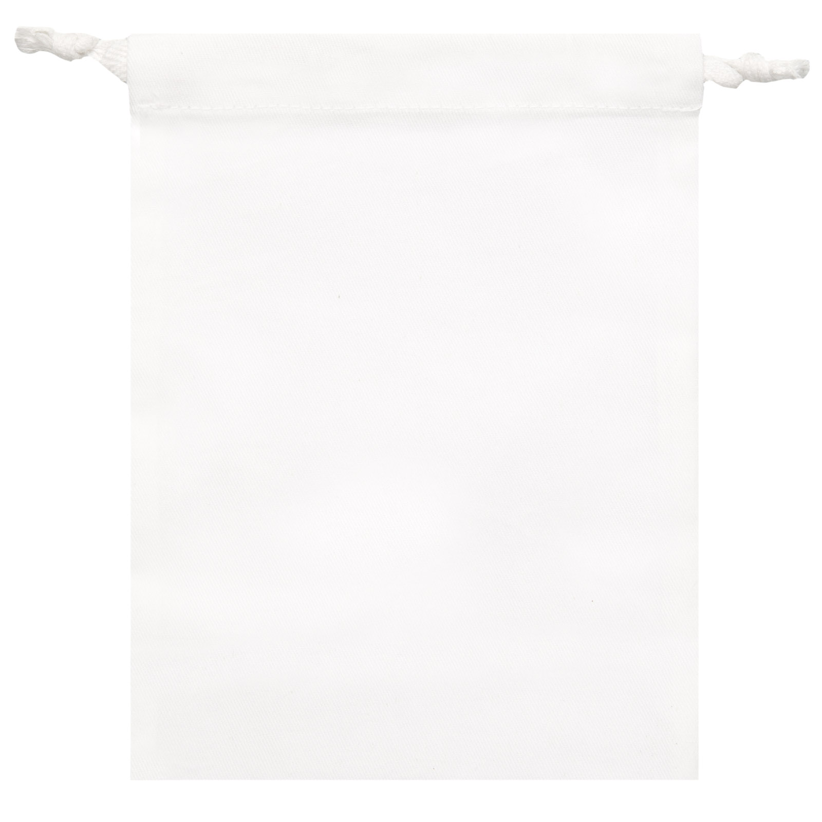 """Signature Napkins Face Covering Storage Pouch – 8"""" x 6"""" Drawstring Bag - 100% Cotton – 10 x Pack - White"""