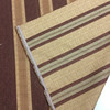Peach/Burgundy Rustic Stripe Upholstery Weight Woven Fabric   Home Dec   Furniture   By The Yard   54 Inch Wide