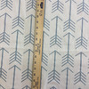"Geometric Arrows in Grayish Blue on White Upholstery / Drapery Fabric | 54"" Wide"