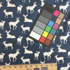 Deer Silhouettes in Navy Blue | Premier Prints | Home Decor Fabric | 54 W | BTY