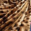copper cheetah print velour stretch fabric