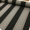 """Black / Gray / White Stripes   Outdoor Awning / Upholstery Fabric   Sunbrella-like   46"""" Wide   By the Yard"""