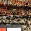 bronze grey red snake cheetah print knit spandex fabric