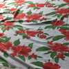 white red green floral print knit fabric
