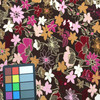 brown pink floral print knit spandex fabric