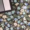 black floral print fabric