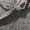 black and white circle print knit fabric