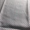 watermelon red dot print silver stripe lightweight woven fabric