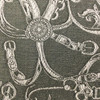 silver chains and belts knit fabric_261566