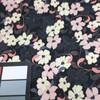 pink floral chiffon