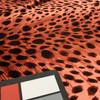 pink red cheetah print velour stretch fabric