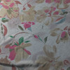grey pink floral print knit fabric