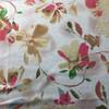 blue pink beige floral print knit fabric