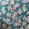 teal orange floral print knit fabric