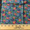 red green blue floral print lightweight woven fabric