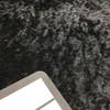 shiny black velour stretch fabric