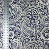 """Eva Paisley in Navy Blue   Home Decor Fabric   Light Upholstery / Drapery   54"""" Wide   By the Yard"""