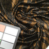 Black Animal print on Brown Faux Fur Low Pile