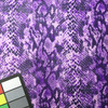 Purple Coated Snake Print Poly-Cotton