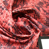Red Coated Snake Print Poly-Cotton