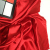 """Bright Red Poly Lining Fabric   Polyester Apparel Lining   Lightweight   60"""" Wide   By the Yard"""