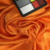 """Bright Orange Poly Silky Solid Fabric 