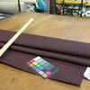 1.8 Yard Piece of  Faux Leather Vinyl Fabric | Matte Dark Brown | Upholstery / Bag Making | 54 Wide