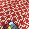 Linked Squares Red / White | Home Decor Fabric | Premier Prints | 54 Wide | By the Yard