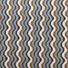 geometric waves brown blue gray