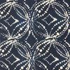 shibori navy white fabric