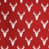 deer silhouette red white