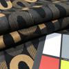 elongated circles black tan