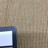 tan with black stitching
