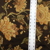 vintage floral brown yellow green