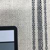 basketweave stripes off white black