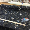 """Floral Sheer Knit Fabric 