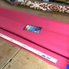 "2.8 Yard Piece of Indoor / Outdoor Upholstery Fabric   Jockey Red   54"" Wide"