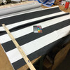 """3.55 Yard Piece of Home Decor Fabric   Black and White Stripes    Upholstery / Drapery   54"""" Wide"""