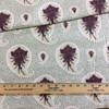 "6.05 Yard Piece of Home Decor Fabric   Modern Paisley White / Green / Purple   Upholstery / Drapery   54"" Wide"