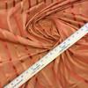 "6.8 Yard Piece of Drapery Fabric   Vintage Orange Stripes   54"" Wide"