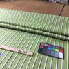 3.8 Yard Piece of Indoor / Outdoor Fabric | Vintage Stripes Green / Brown | 54 Wide | Upholstery