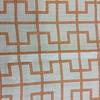 "3.05 Yard Piece of Home Decor Fabric | Modern Geometric Orange / Off White  | Upholstery / Drapery | 54"" Wide"