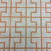 "3.3 Yard Piece of Home Decor Fabric | Modern Geometric Orange / Off White | Upholstery / Drapery | 54"" Wide"