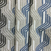 """3.3 Yard Piece of Upholstery Fabric   Travelling Stripes Beige / Blue / Taupe   54"""" Wide"""