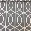 "5.3 Yard Piece of Home Decor Fabric   Modern Lattice Gray / White / Black by Robert Allen   Upholstery / Drapery   54"" Wide"