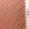 "3.8 Yard Piece of Upholstery Fabric | Decorative Diamonds Orange / Red | 54"" Wide |"