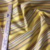 """3.3 Yard Piece of Upholstery Fabric   Retro Yellow and Brown Stripes   54"""" Wide"""